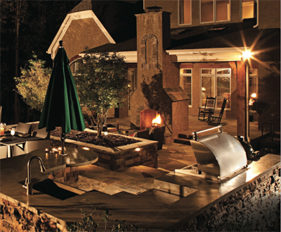High-end outdoor kitchens