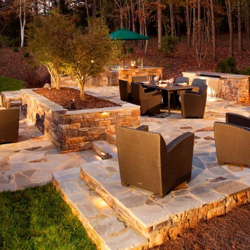 Outdoor living area design in Charlotte NC