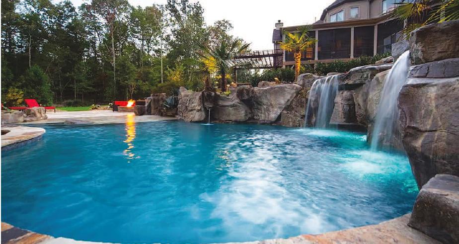 custom swimming pools in Charlotte NC