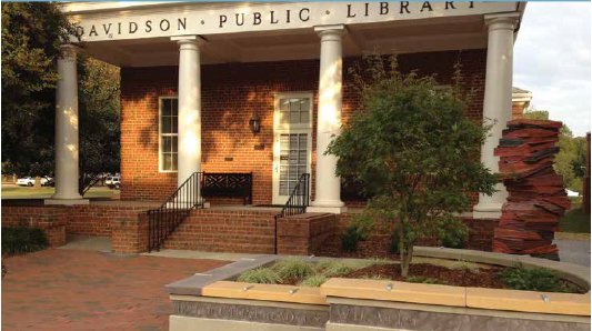 The Book Garden, landscape architect project in Davidson NC