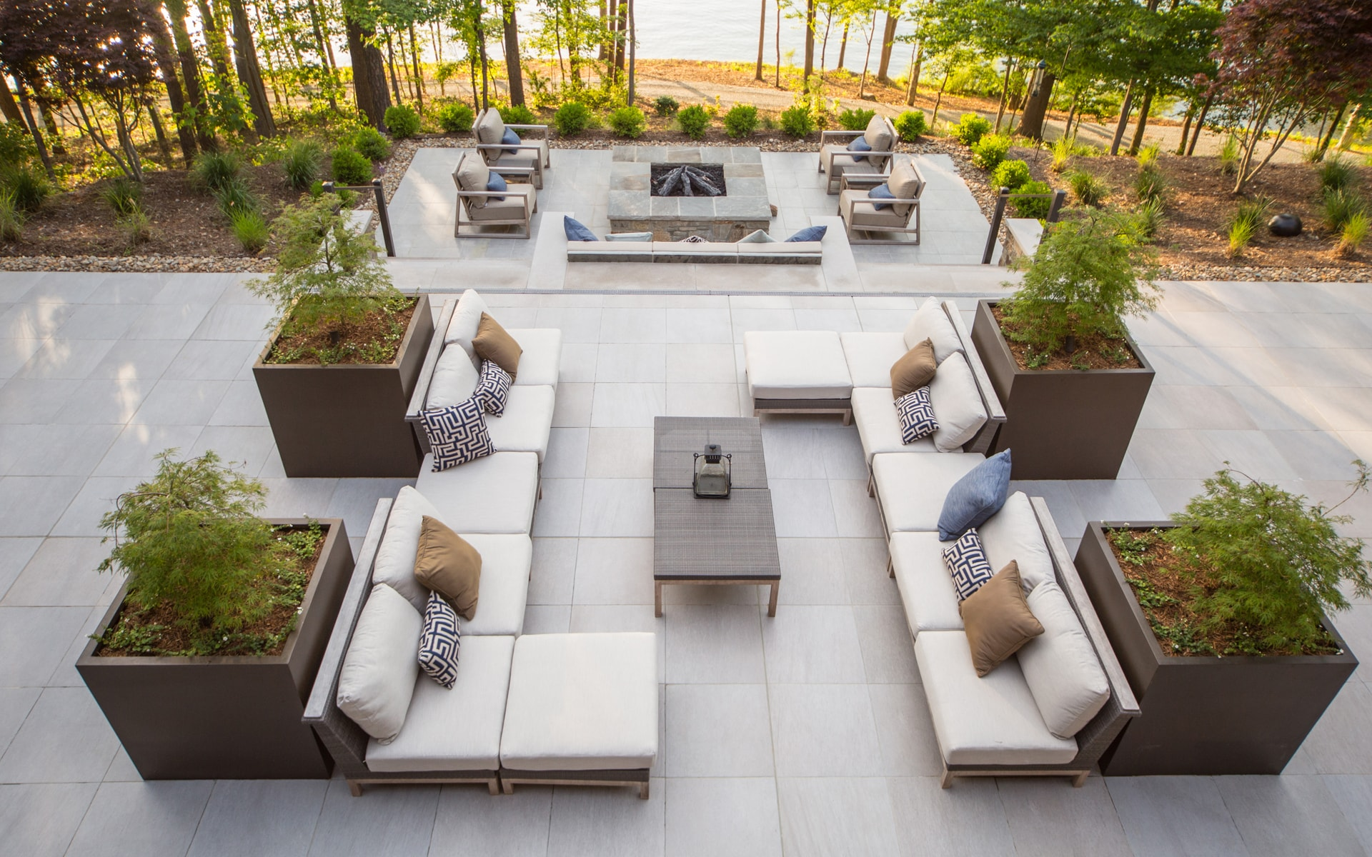 Landscape architecture terrace design in Charlotte, NC